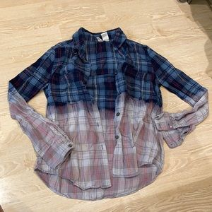 Bleach dyed flannel